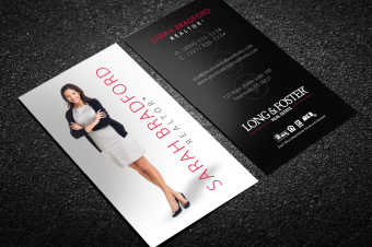Long foster business cards free shipping black long foster business card with reheart Images